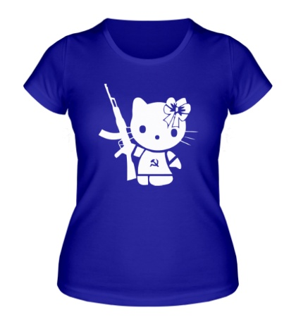 Женская футболка «Kitty Soldier»