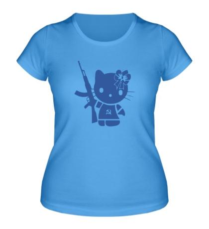 Женская футболка Kitty Soldier