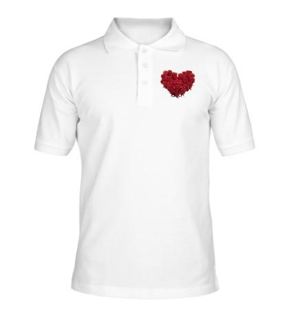 Рубашка поло Букет роз