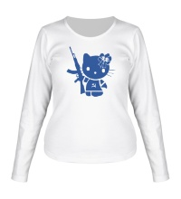 Женский лонгслив Kitty Soldier