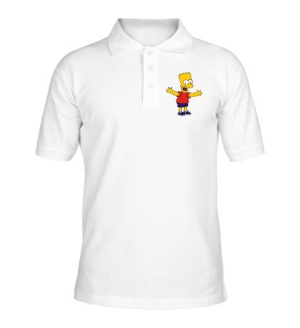 Рубашка поло Барт разводит руками
