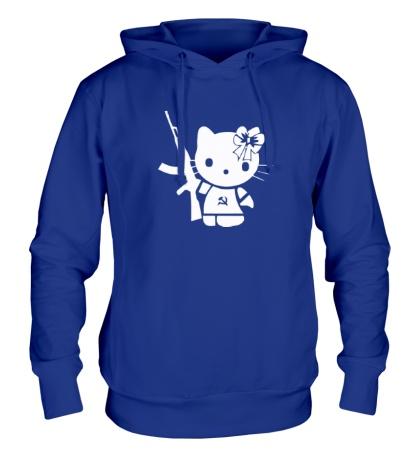 Толстовка с капюшоном Kitty Soldier