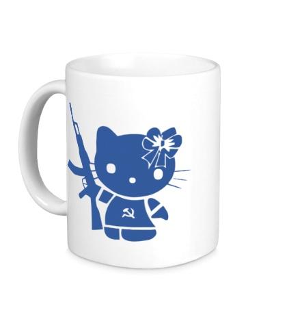 Керамическая кружка «Kitty Soldier»