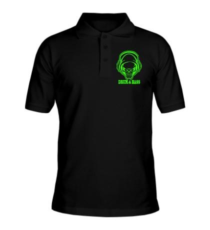Рубашка поло Drum & Bass Skull Glow