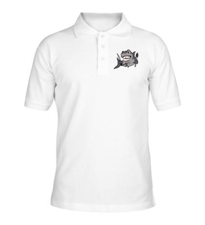 Рубашка поло Голодная акула
