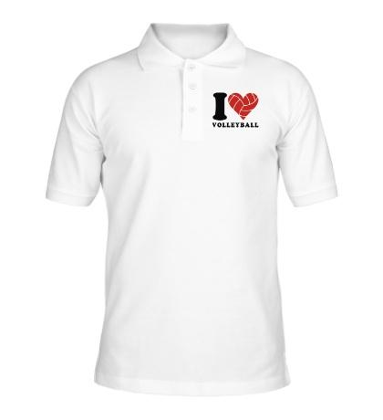 Рубашка поло I Love Volleyball