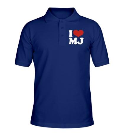 Рубашка поло I Love MJ