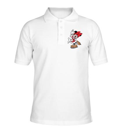 Рубашка поло Минни Маус на коньках