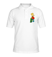 Рубашка поло Барт со скейтом