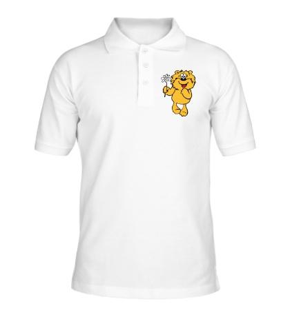 Рубашка поло Медвежонок с ромашкой