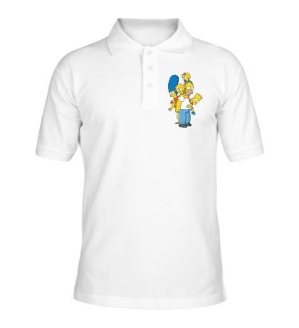 Рубашка поло Семья Симпсонов