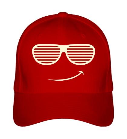 Бейсболка Довольный смайл в очках жалюзи