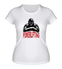 Женская футболка Powerlifting Hard