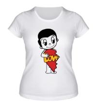 Женская футболка Love is Boy
