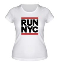 Женская футболка Run NYC