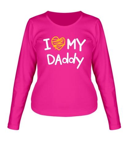 Женский лонгслив I love my Daddy
