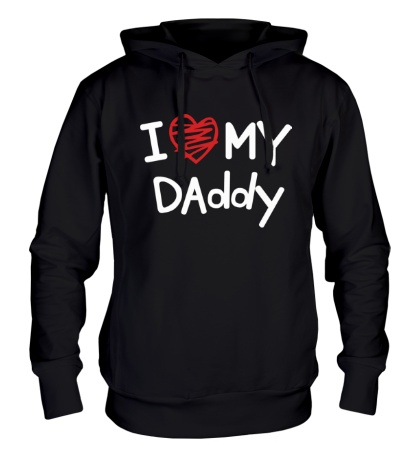 Толстовка с капюшоном I love my Daddy