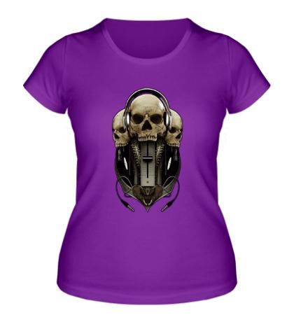 Женская футболка Диджейский череп