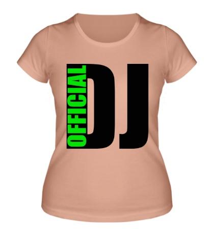 Женская футболка Official DJ