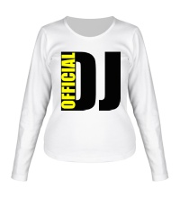 Женский лонгслив Official DJ