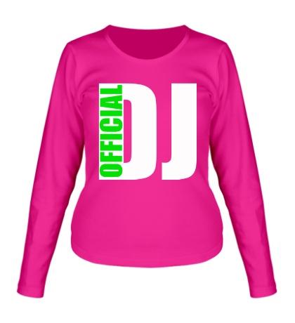 Женский лонгслив Official DJ
