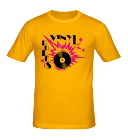 Мужская футболка Vinyl Rules Only