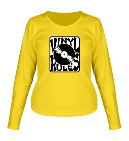 Женский лонгслив Vinil Rules