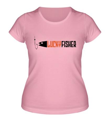 Женская футболка Lucky fisher