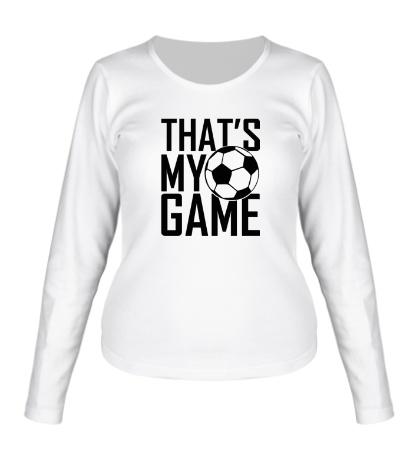 Женский лонгслив Football my game