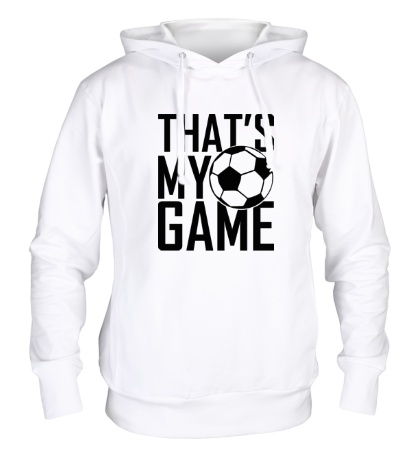 Толстовка с капюшоном Football my game