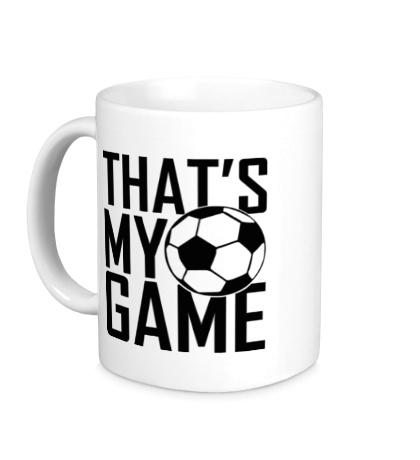 Керамическая кружка Football my game