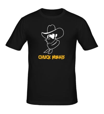 Мужская футболка Chuck Norris: Wild West