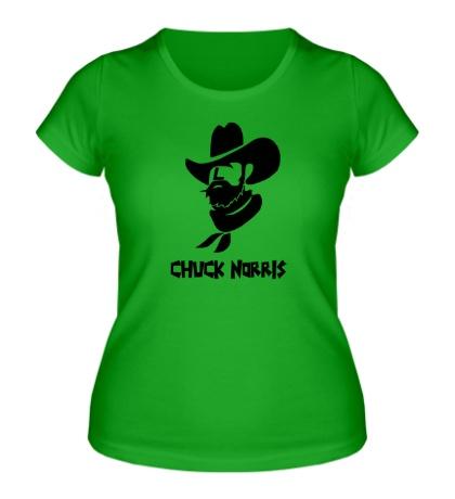 Женская футболка Chuck Norris: Wild West