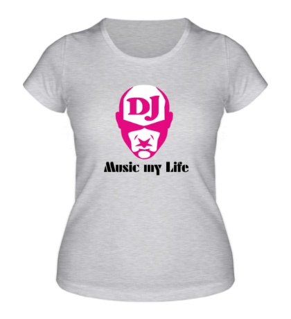 Женская футболка DJ, Music my life