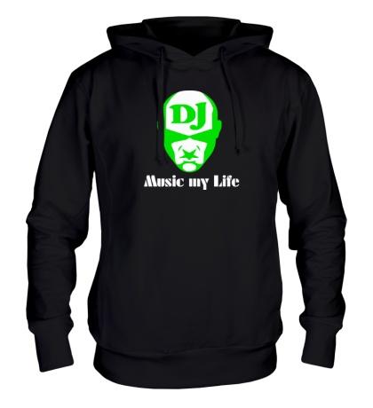 Толстовка с капюшоном DJ, Music my life
