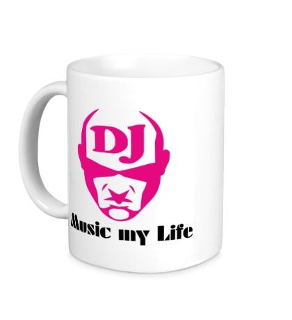Керамическая кружка DJ, Music my life