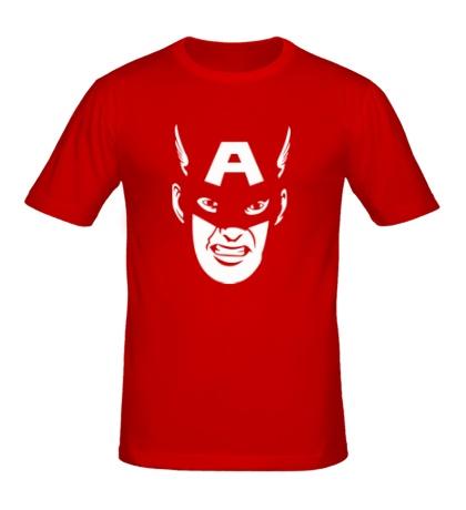 Мужская футболка Captain America: Face