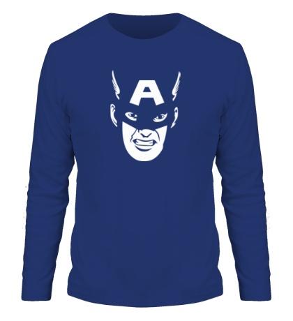 Мужской лонгслив Captain America: Face
