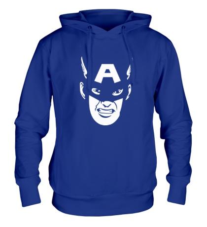 Толстовка с капюшоном Captain America: Face