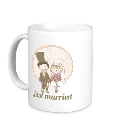Керамическая кружка Retro Just Married