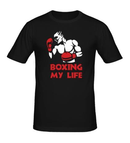 Мужская футболка Boxing my life