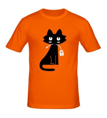 Мужская футболка Кошка с мышкой