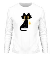 Мужской лонгслив Кошка с мышкой