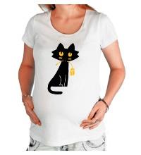 Футболка для беременной Кошка с мышкой