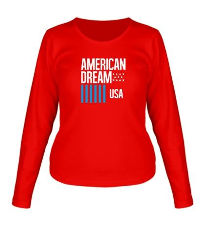 Женский лонгслив American Dream