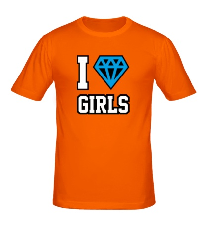 Мужская футболка I Love Diamond Girls