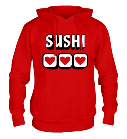 Толстовка с капюшоном Sushi Love