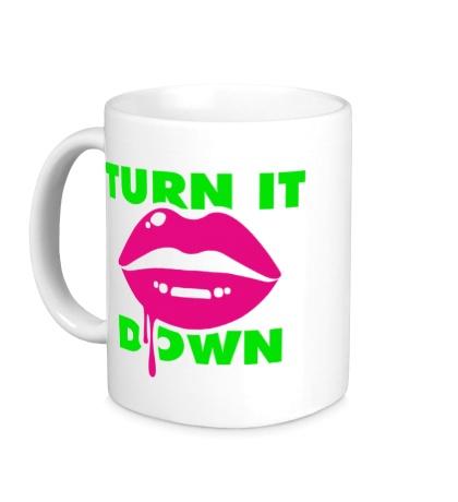 Керамическая кружка Turn It Down