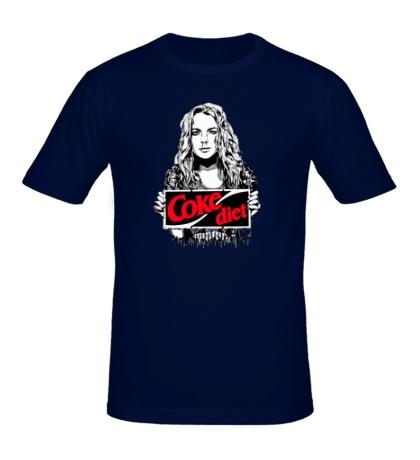 Мужская футболка Lindsay Lohan Coke diet