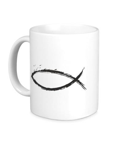 Керамическая кружка Христианский символ